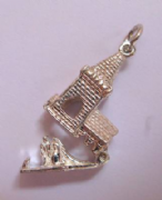Sterling Silver opening Church Charm